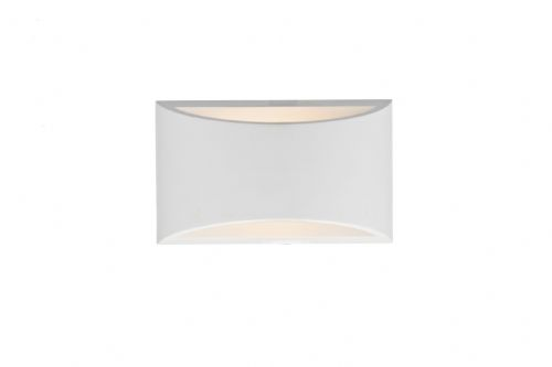 Hove 1-light White Plaster Small Double Insulated Wall Light (Class 2 Double Insulated) BXHOV072-17